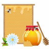 natural honey vector illustration