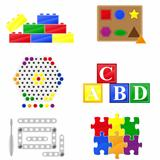 icons educational toys for children