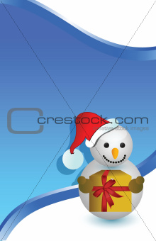 christmas snowman card background