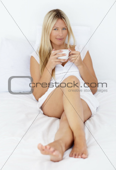 She never starts her day without her coffee
