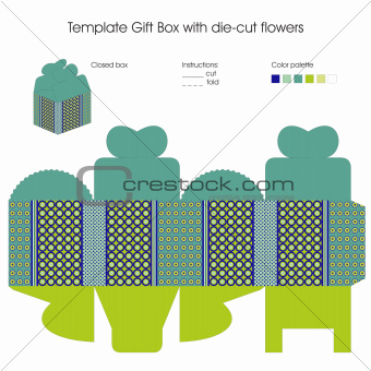 Template for gift box