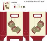 Decorative gift box with Christmas balls