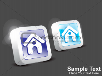 abstract home icon button