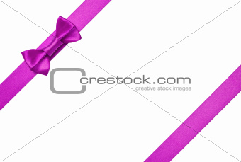 Purple ribbons with bow