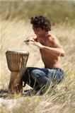 Feelng the rhythm of the African drum