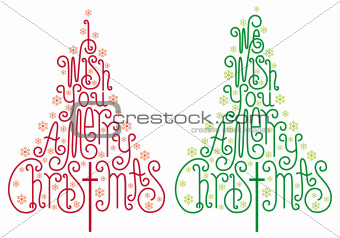 Christmas trees, vector