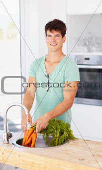 He enjoys only the freshest produce