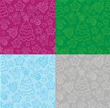 Funny seamless christmas background