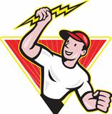 Electrician Construction Worker Cartoon