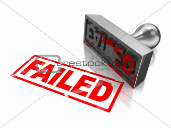 Stamp failed