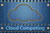 Cloud on blue jeans background