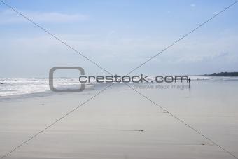 people on kuta beach bali indonesia
