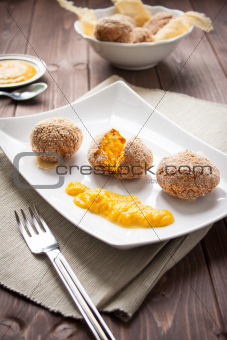 Arancini rice and pumpkin