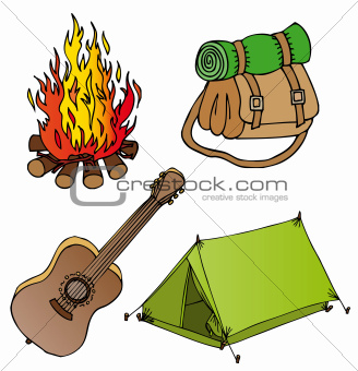 Camping objects collection 1