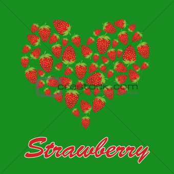 Love strawberry concept