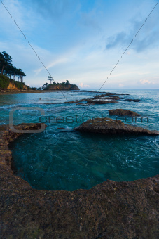Natural Tide Pool Landscape Turquoise Water