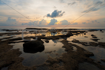Sunset Tide Pool Reflection Neil Island Seascape