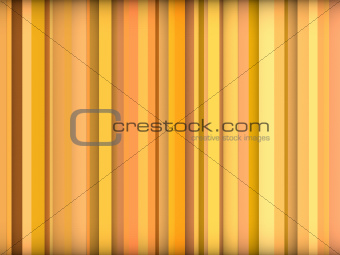 3d abstract orange yellow backdrop in vertical stripes