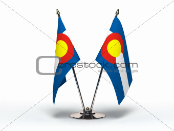 Miniature Flag of Colorado (Isolated)