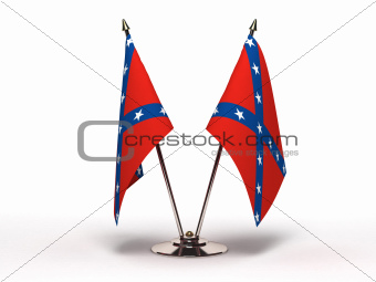 Miniature Flag of Confederate (Isolated)