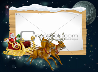 Santa Christmas Sleigh Background