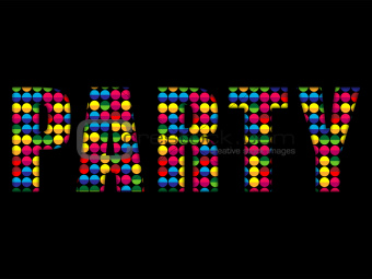 Party Letters Music Disco Colorful Alphabet