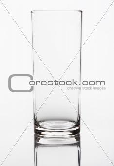 Empty crystal glass