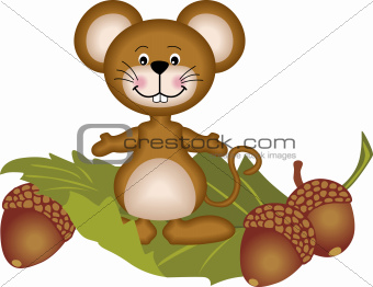 Mouse and acorn