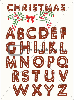 Ginger cookie alphabet
