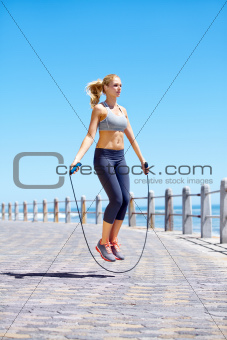 Skipping is a great full body work out
