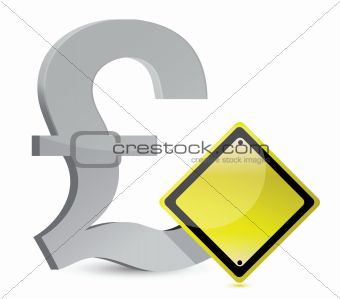 pound warning yellow sign
