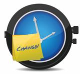 change concept watch and post it
