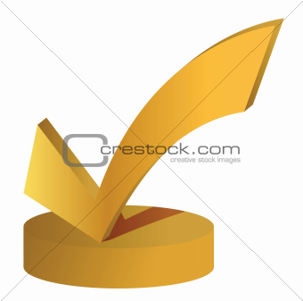 check mark trophy