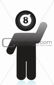 eight ball head icon