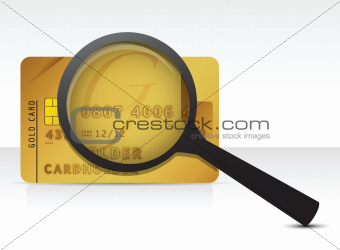 credit card magnify glass