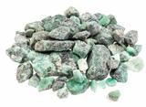 raw emerald gemstones