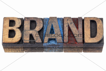 brand - isolated word