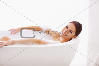 Having a relaxing bath
