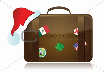 christmas travel season concept