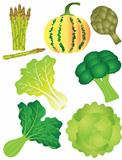 Vegetables Set 2 Illustration Isolated on White Background