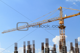 Crane in construction Site.