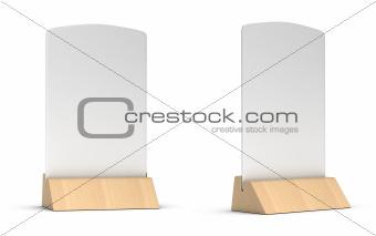 blank table tent sign, restaurant communication