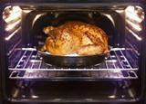turkey is baked in oven