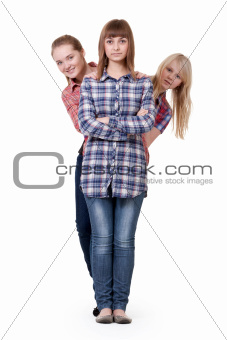 three beautiful young girl