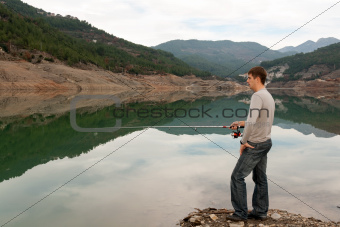man with a fishing