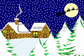 Christmas landscape