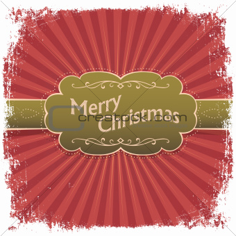 Merry Christmas greeting card. Vector illustration, EPS10.