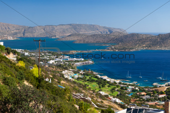 Bay of Elounda in Crete