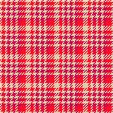 Seamless texture of red wool fabric comprised by threads