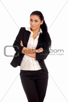 Portrait of young businesss woman